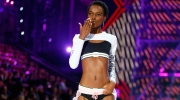 Tanzanian model Herieth Paul blows a kiss as she wpresents a creation during the Victoria's Secret Fashion Show inside the Grand Palais, in Paris, Wednesday, Nov. 30, 2016. The pulse-quickening, celebrity-filled catwalk event of the year : the Victoria's Secret fashion show takes place in Paris with performances from Lady Gaga and Bruno Mars. (AP Photo/Francois Mori)
