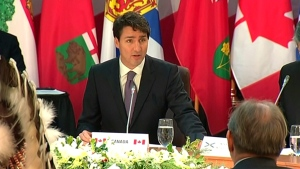 PM Trudeau at First Ministers meeting