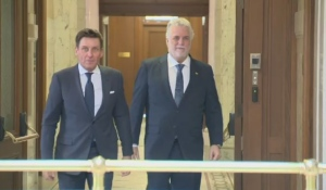 Pierre Moreau met with Premier Philippe Couillard Wednesday morning.