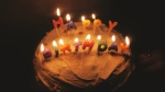 A birthday cake is seen in this undated stock photo. (Unsplash/Pexels)