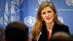United States U.N. Ambassador Samantha Power speaks during her final press conference, Friday, Jan. 13, 2017 at U.N. headquarters. (AP Photo/Bebeto Matthews)