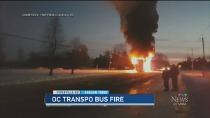 CTV Ottawa: Double-Decker bus fire