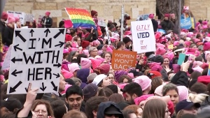 March for women's rights in Washington D.C.