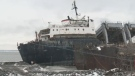 The Kathryn Spirit was abandoned in waters near Beauharnois six years ago.