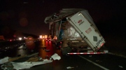 The Highway 20 crash caused one minor injury (photo: CTV Montreal / Cosmo Santamaria)