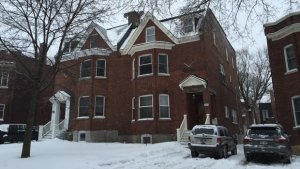 Bones were discovered in this home on Victoria Ave. in Westmount.