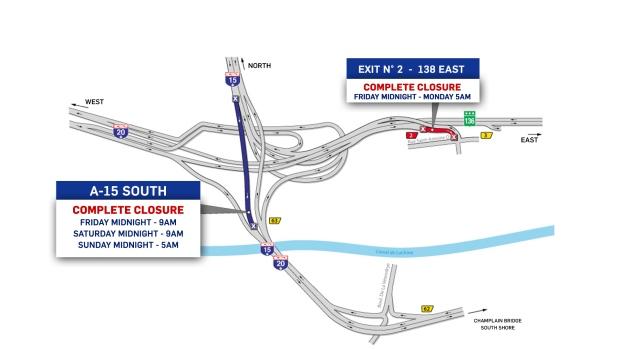 Highways 40, 13 to close weekend of June 14   CTV News Montreal