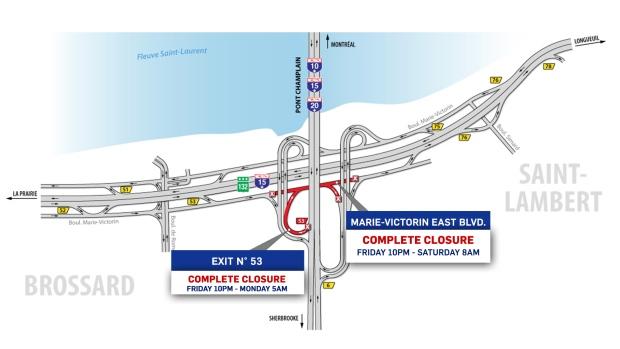 Highways 40, 13 to close weekend of June 14 | CTV News Montreal