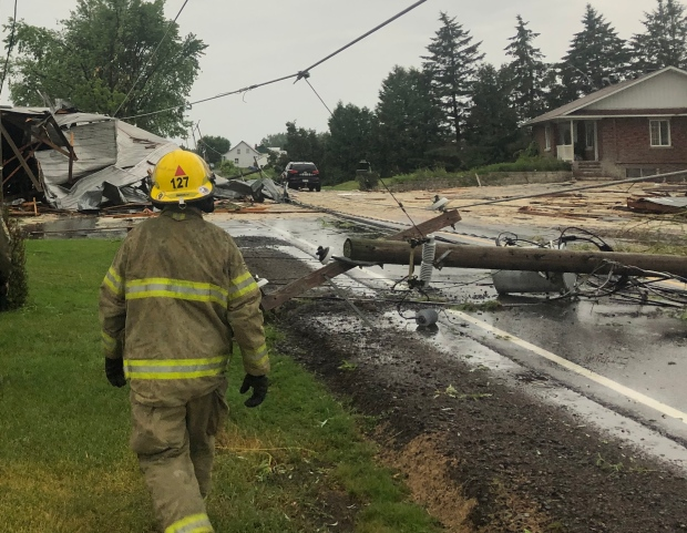 City crews, firefighters and Hydro Quebec were cal