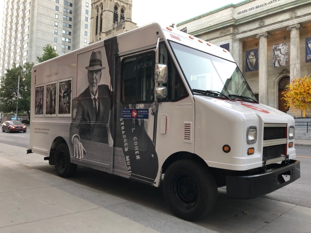Leonard Cohen will be on trucks and mailboxes