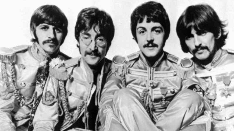 This is a 1967 handout image from Parlophone of The British group, The Beatles. From left, are: Ringo Starr, John Lennon, Paul McCartney; and George Harrison.