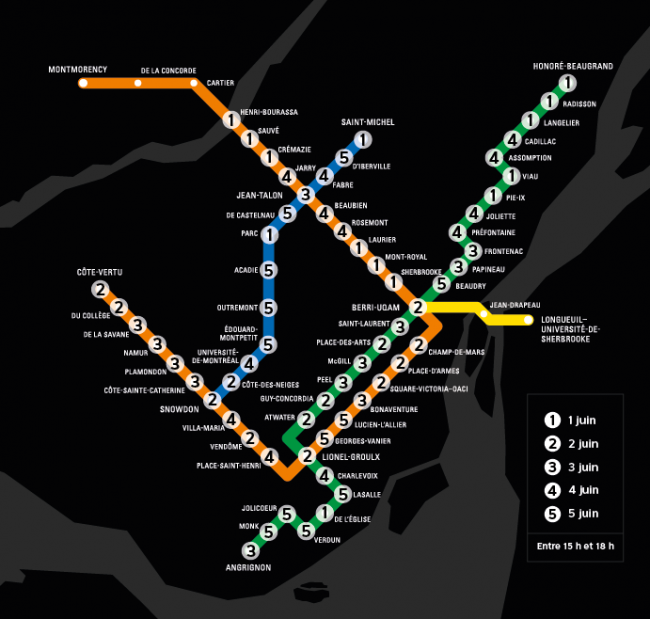 MONTREAL MASK METRO MAP