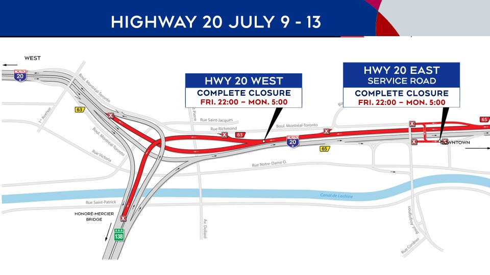 Highway 20 closure July 9-13, 2020