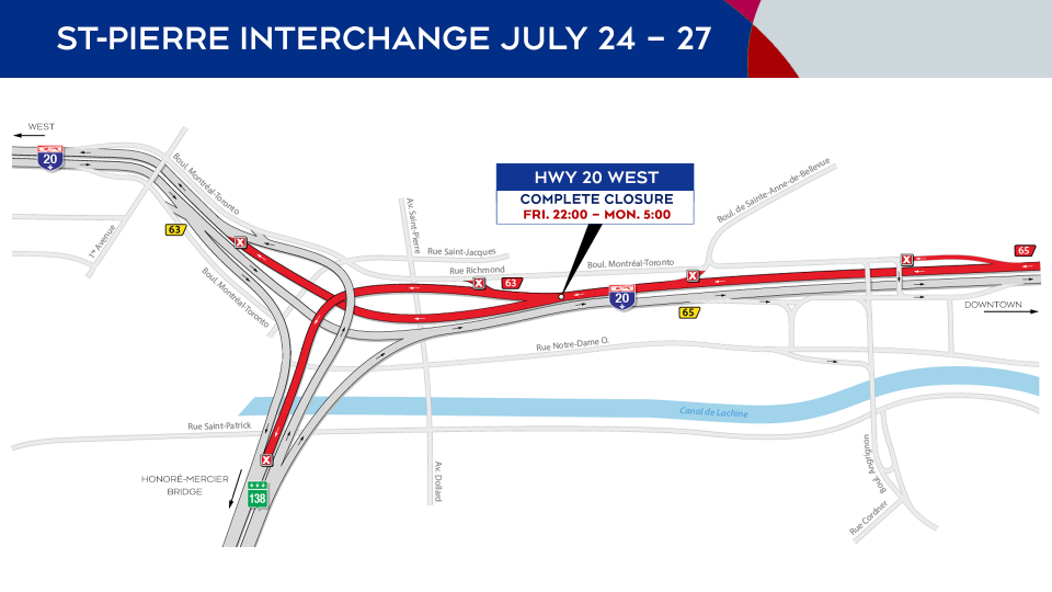 Highway 20 closures from July 24 to 27