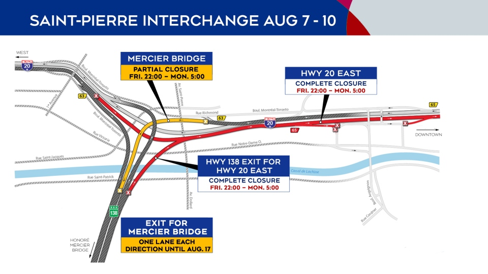 Closures Aug. 7-10, 2020