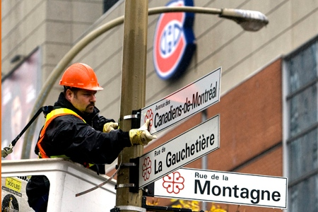 Montreal Street Names Chnages The Street Name in