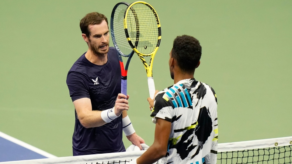 Felix Auger-Aliassime and Andy Murray