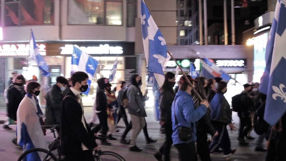 Young sovereigntists rally for independence