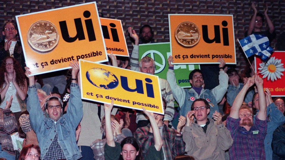 Yes supporters in 1995