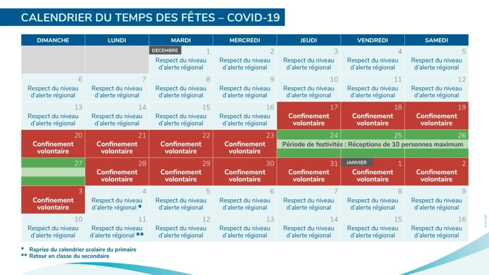 Quebec school calendar