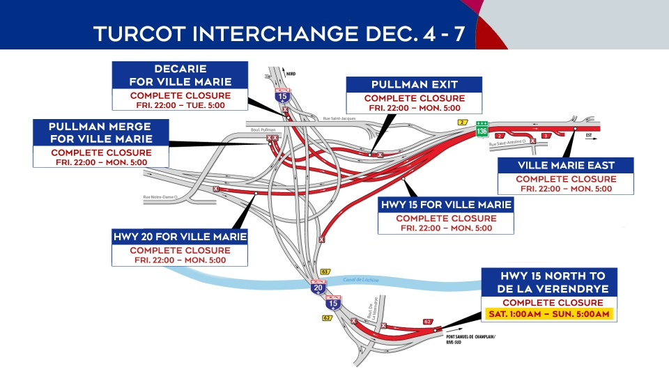 Turcot Interchange Dec. 4-7