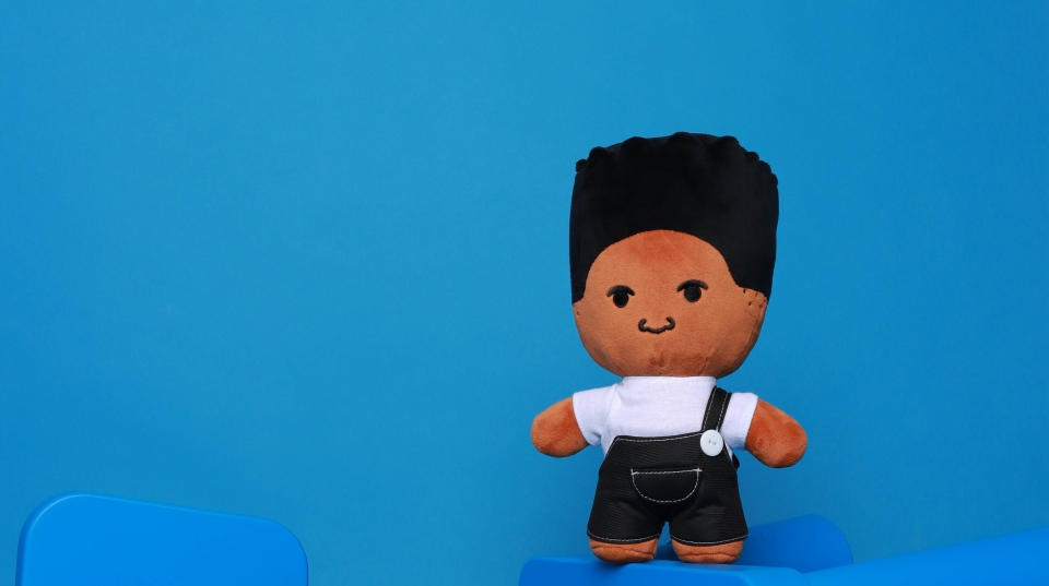 Black boy plush toy