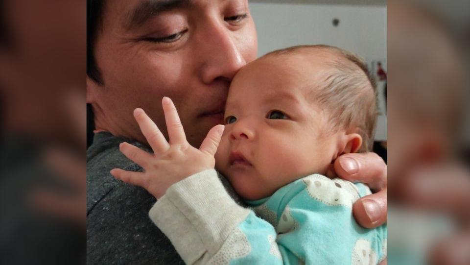 Father Jing Xian Tan and baby Bella