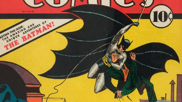This undated photo provided by Heritage Auction Galleries shows a 1939 copy of Detective Comics #27, with the first appearance of Batman. The comic book was sold by the auctioneer for a record price of $1,075,500, during an auction conducted online Feb. 25, 2010. (AP Photo/Heritage Auction Galleries)