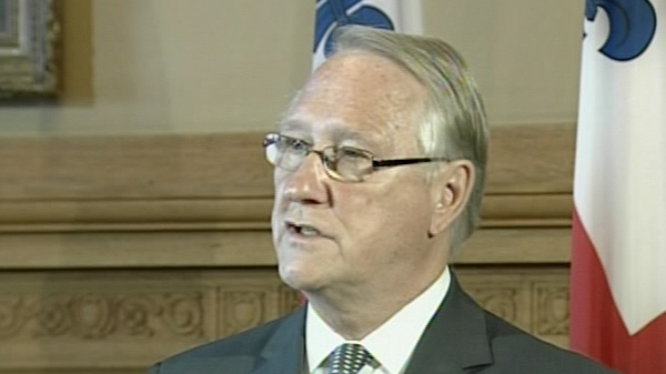 Montreal mayor Gerald Tremblay speaks to reporters at city hall on Thursday, May 20, 2010.