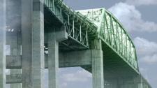 Montreal Mercier Bridge graphic
