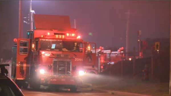 A large fire broke out at the Bitumar facility in Montreal's east end on June 19, 2012. Firefighters spent several hours battling the blaze.