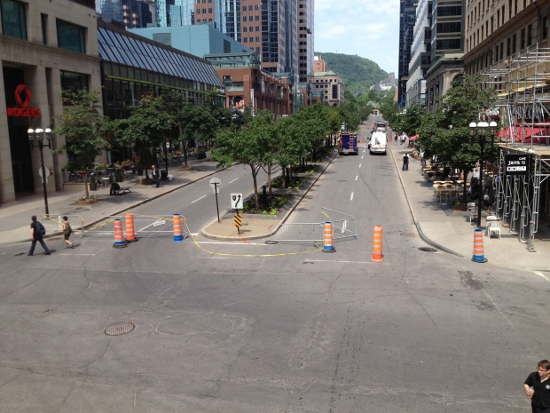 Sinkholes have opened up near Sherbrooke and McGill College