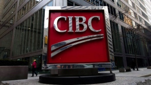 The CIBC sign in Toronto's financial district in downtown Toronto is shown on Feb. 26, 2009. (The Canadian Press/Nathan Denette)
