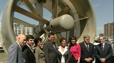 The pilot project will see two turbines plunked into water off the shores of Montreal in the coming weeks.