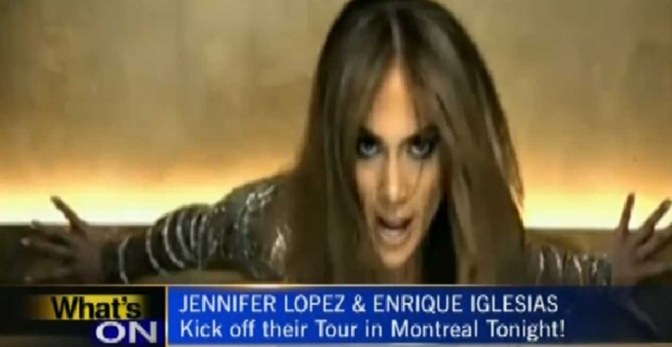 JLo and Enrique Iglesias share the stage at the Bell Centre for the first night of their North American tour