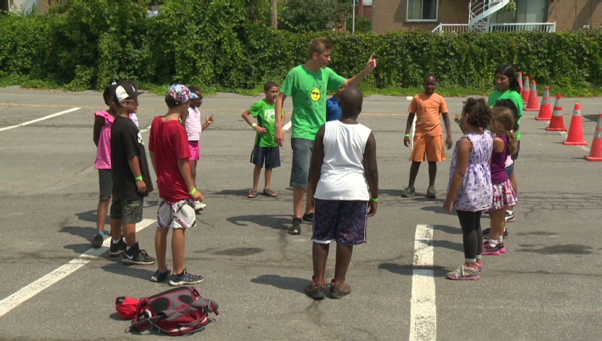 Children take part in Play It Fair in Montreal North