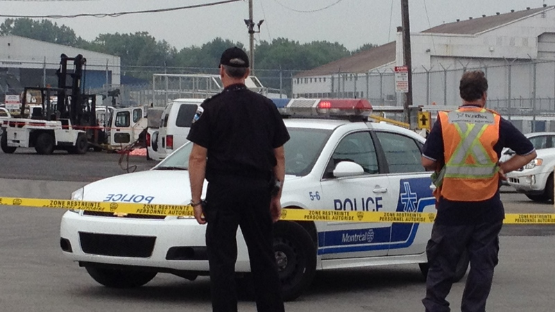 A 21-year-old man has died in a workplace accident near Trudeau Airport. (Aug. 10, 2012)