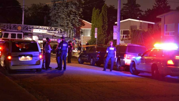 A woman died in Laval on Tuesday night after an apparent arson.