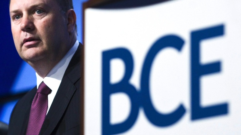 President and CEO of Bell Canada Enterprises (BCE) George Cope looks on before speaking during their annual general meeting in Toronto on Thursday, May 7, 2009. (Nathan Denette / THE CANADIAN PRESS)
