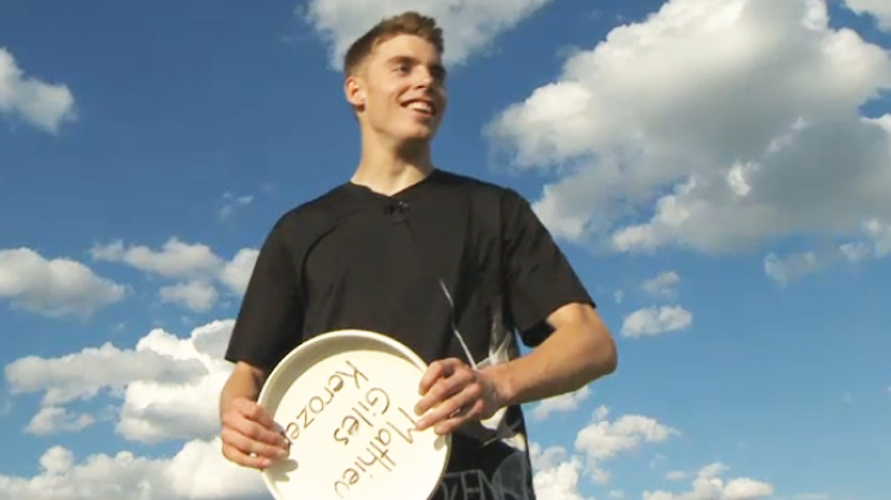 Hugo Pare is said to have pinpoint accuracy in tossing the flying disc.