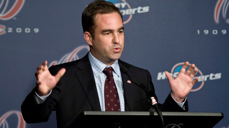 Geoff Molson announces that he and his two brothers are the new owners of the Montreal Canadiens during a news conference in Montreal, Tuesday, Dec. 1, 2009. (Paul Chiasson / THE CANADIAN PRESS)