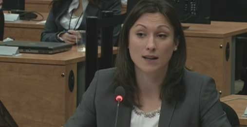 Mafia expert Valentina Tenti testified at the Charbonneau Commission Tuesday.