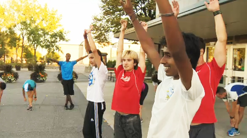A group of Montreal teens, thanks to the mentoring of some local cops, are ready to run their first marathon Sunday.