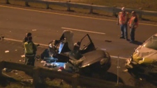 Two people were killed in a car crash in Vaudreuil-Dorion (Sept. 20, 2012)