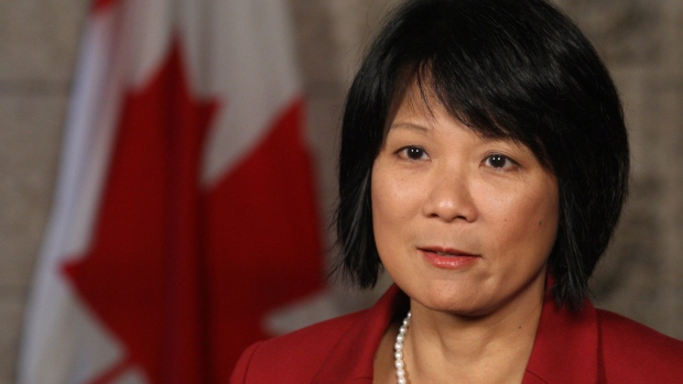 NDP MP Olivia Chow, wife of the late NDP leader Jack Layton, holds a news conference in Ottawa, Mond