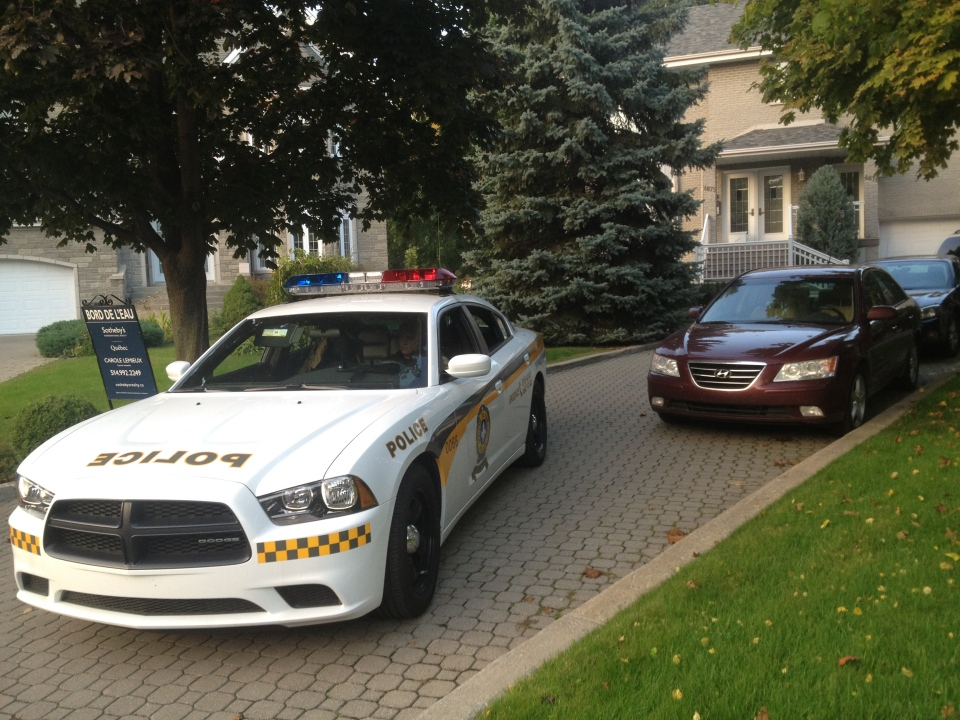 The home of Laval Mayor Gilles Vaillancourt was raided on the afternoon of Thursday, Oct. 4, 2012. Three other Laval locations were also raided.
