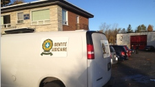 Surete du Quebec van outside UPAC raid
