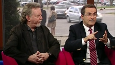 Political analysts Don Macpherson and Jean Lapierre