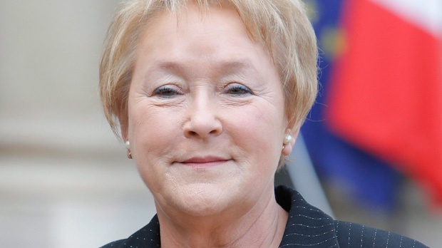 Pauline Marois in Paris on Oct. 15, 2012.