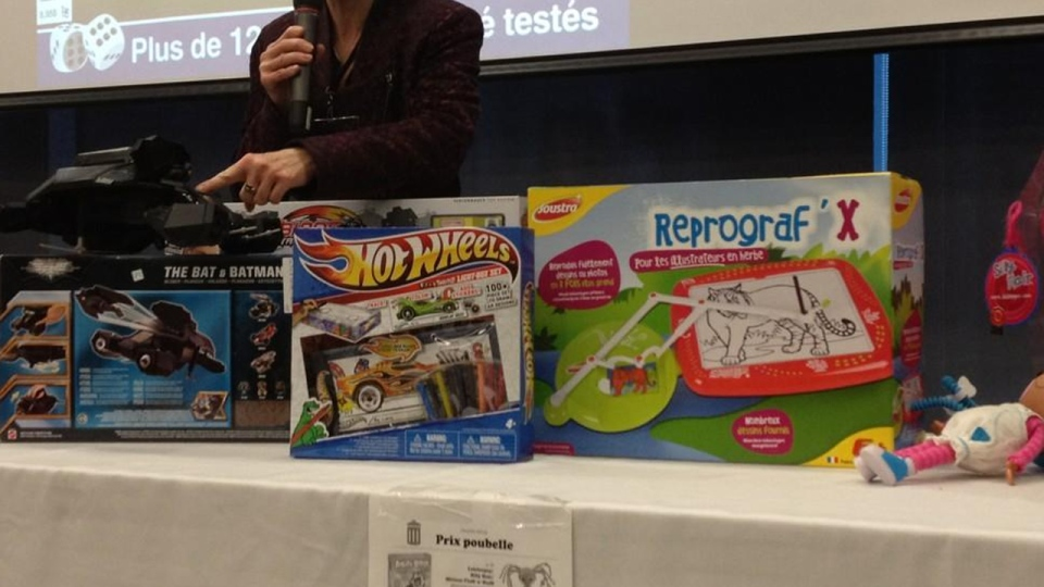 Option Consommateurs shows off what they consider to be the worst toys and games they tested in 2012.